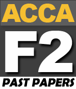 ACCA F2 Past Papers - PakAccountants com