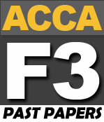 ACCA F3 Past Papers - PakAccountants com