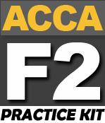 FREE ACCA F2 Practice KIT - PakAccountants com