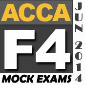 FREE ACCA F4 Mock Exams - PakAccountants com