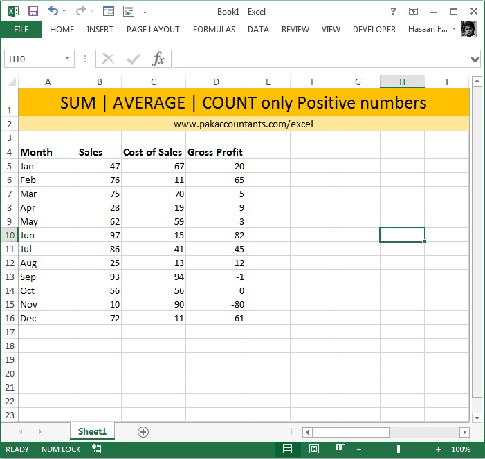 sumif average if countif