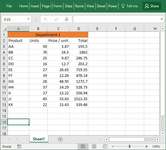 excel match example