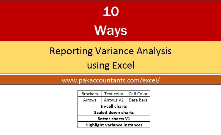 10  ways to make excel variance reports and charts - how to