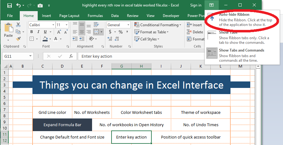 15+ Default settings that you can change in Excel - PakAccountants.com