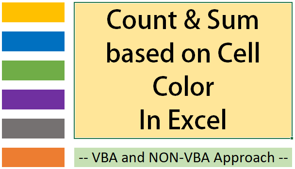 Count + Sum Cells based on Cell Colour in Excel - How To