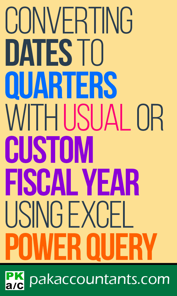 Converting Dates to Quarters for Usual or Custom Fiscal Year
